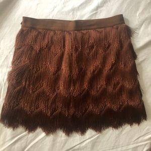 BCBG Max Azria fringed mini skirt